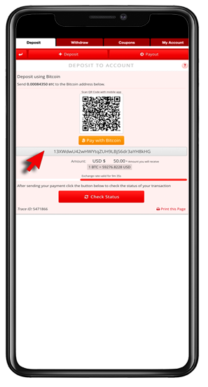 Crypto Deposit Instructions