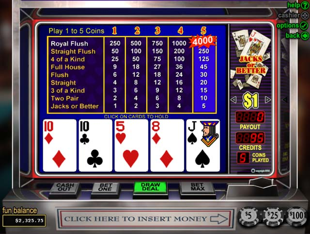 Online video poker for first timers